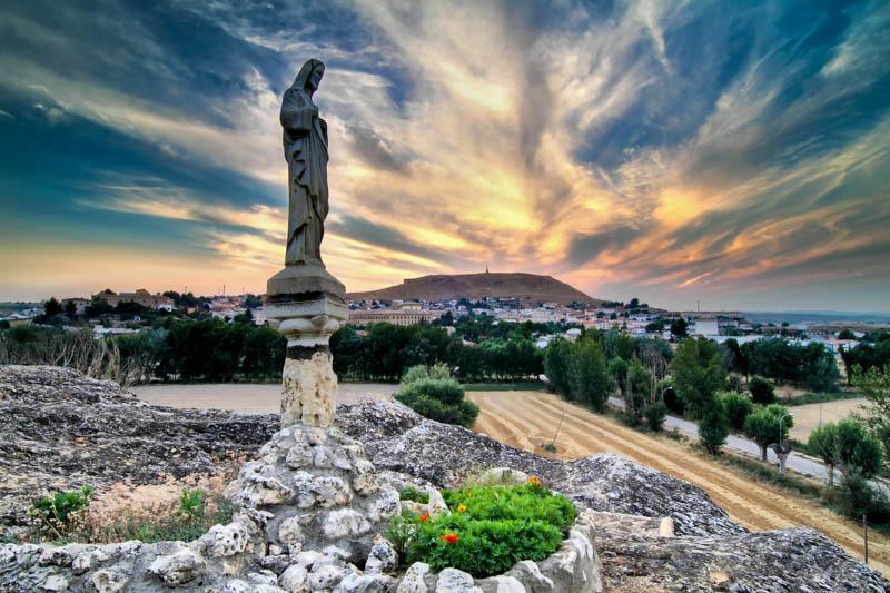 Vista desde casa particular de Huete (Cuenca)